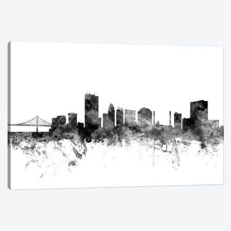 Toledo, Ohio In Black & White Canvas Print #MTO919} by Michael Tompsett Art Print