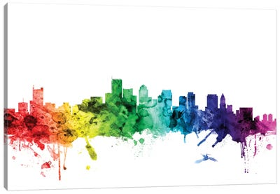 Rainbow Skyline Series: Boston, Massachusetts, USA Canvas Print #MTO91