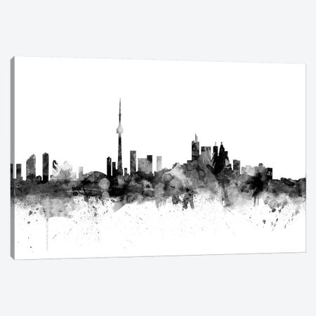 Toronto, Canada In Black & White Canvas Print #MTO920} by Michael Tompsett Canvas Wall Art