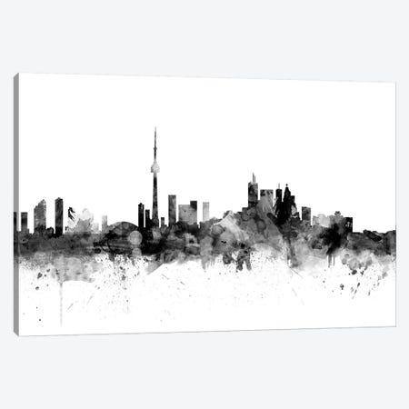 Toronto, Canada In Black & White Canvas Print #MTO920} by Michael Tompsett Canvas Wall Art