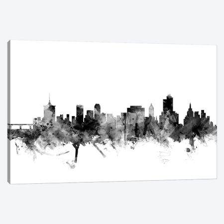Tulsa, Oklahoma In Black & White Canvas Print #MTO922} by Michael Tompsett Canvas Wall Art