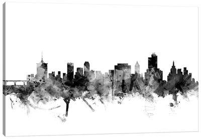 Tulsa, Oklahoma In Black & White Canvas Art Print