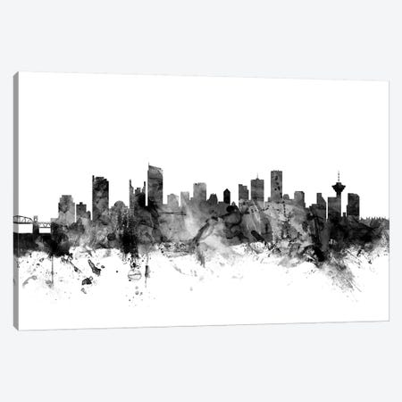 Vancouver, Canada In Black & White Canvas Print #MTO923} by Michael Tompsett Canvas Artwork