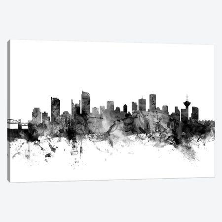Vancouver, Canada In Black & White Canvas Print #MTO923} by Michael Tompsett Canvas Artwork