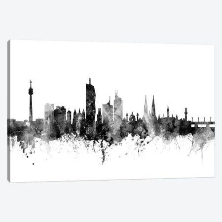 Vienna, Austria In Black & White Canvas Print #MTO926} by Michael Tompsett Canvas Print