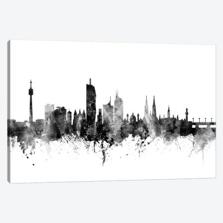 Vienna, Austria In Black & White Canvas Print #MTO926} by Michael Tompsett Canvas Print