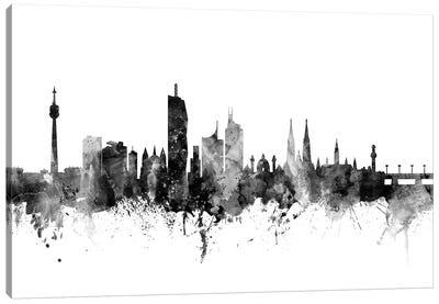 Vienna, Austria In Black & White Canvas Art Print