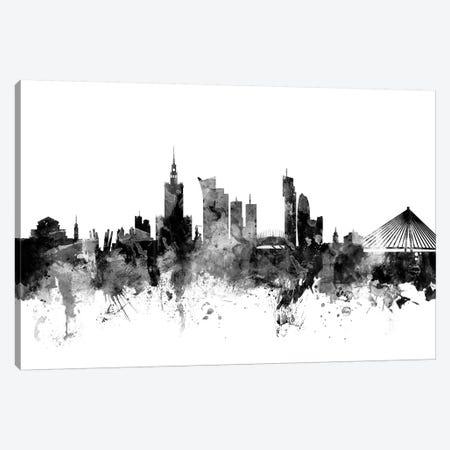 Warsaw, Poland In Black & White Canvas Print #MTO928} by Michael Tompsett Canvas Art