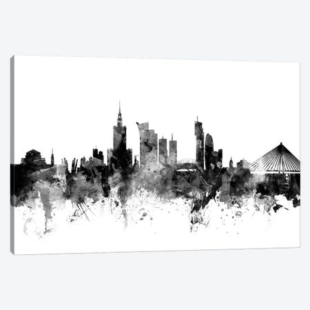 Warsaw, Poland In Black & White Canvas Print #MTO928} by Michael Tompsett Canvas Art