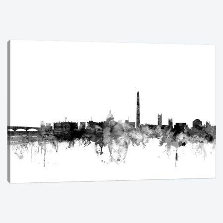 Washington, DC In Black & White Canvas Print #MTO929} by Michael Tompsett Canvas Art