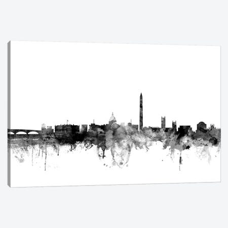 Washington, DC In Black & White Canvas Print #MTO929} by Michael Tompsett Canvas Art