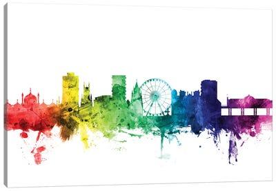 Rainbow Skyline Series: Brighton England, United Kingdom Canvas Print #MTO92