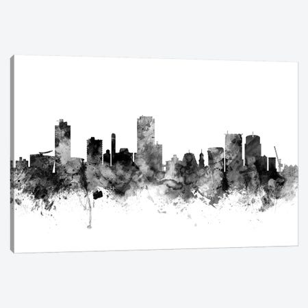 Wellington, New Zealand In Black & White Canvas Print #MTO930} by Michael Tompsett Canvas Art Print