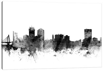Wichita, Kansas In Black & White Canvas Art Print