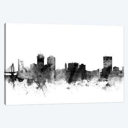 Wichita, Kansas In Black & White Canvas Print #MTO931} by Michael Tompsett Canvas Art Print