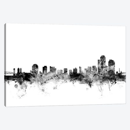 Wilmington, Delaware In Black & White Canvas Print #MTO932} by Michael Tompsett Canvas Print