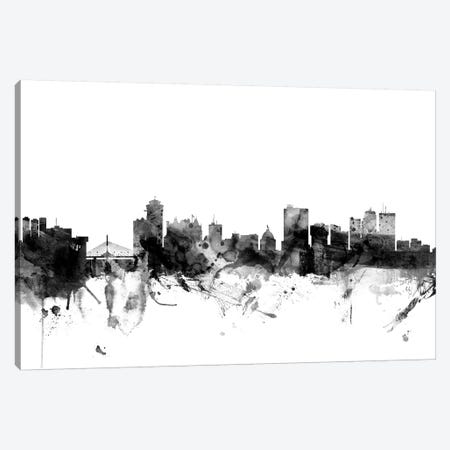 Winnipeg, Canada In Black & White Canvas Print #MTO933} by Michael Tompsett Art Print