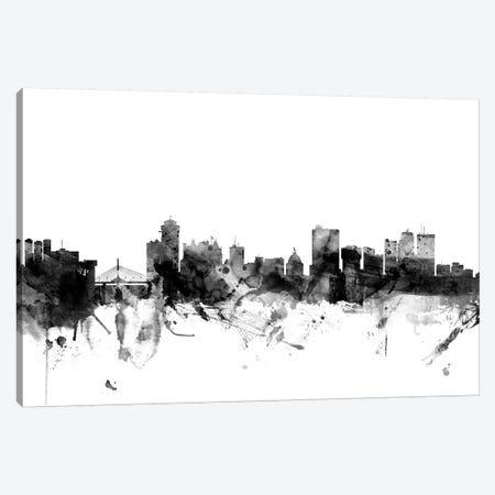 Winnipeg, Canada In Black & White Canvas Print #MTO933} by Michael Tompsett Art Print