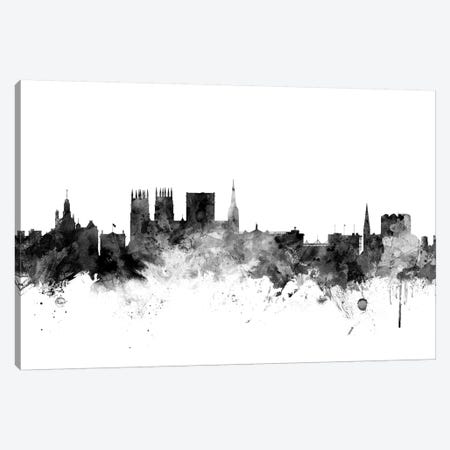 York, England In Black & White Canvas Print #MTO935} by Michael Tompsett Canvas Wall Art