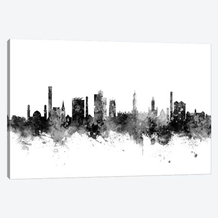 Bradford, England Skyline In Black & White Canvas Print #MTO937} by Michael Tompsett Canvas Artwork