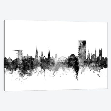 Cheltenham, England Skyline In Black & White Canvas Print #MTO940} by Michael Tompsett Canvas Wall Art