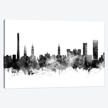 Erlangen, Germany Skyline In Black & White Canvas Print #MTO942} by Michael Tompsett Canvas Artwork