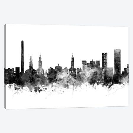 Erlangen, Germany Skyline In Black & White Canvas Print #MTO942} by Michael Tompsett Canvas Artwork