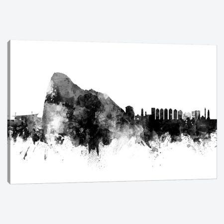 Gibraltar Skyline In Black & White Canvas Print #MTO943} by Michael Tompsett Canvas Art