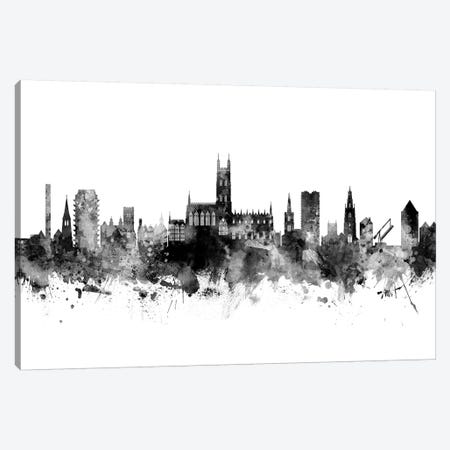 Gloucester, England Skyline In Black & White Canvas Print #MTO944} by Michael Tompsett Art Print