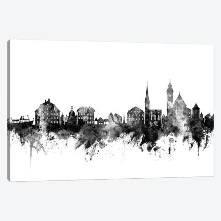 Hallstatt, Austria Skyline In Black & White Canvas Print #MTO945} by Michael Tompsett Canvas Art Print