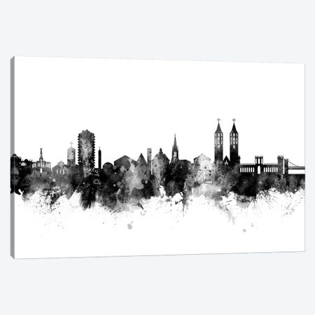 Kassel, Germany Skyline In Black & White Canvas Print #MTO946} by Michael Tompsett Canvas Print
