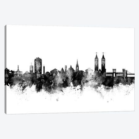 Kassel, Germany Skyline In Black & White Canvas Print #MTO946} by Michael Tompsett Canvas Print
