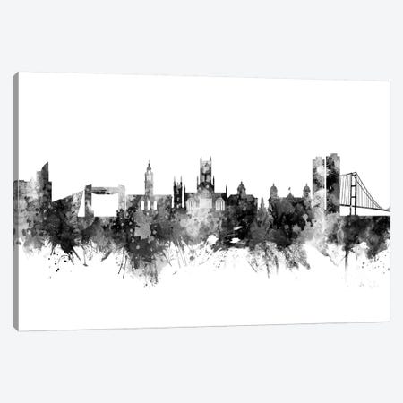 Kingston upon Hull, England Skyline In Black & White Canvas Print #MTO947} by Michael Tompsett Canvas Print