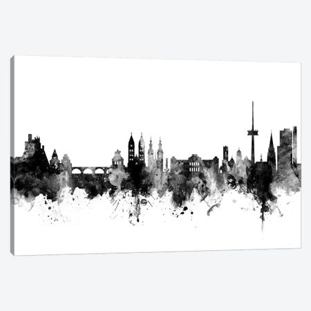 Koblenz, Germany Skyline In Black & White Canvas Print #MTO948} by Michael Tompsett Canvas Artwork