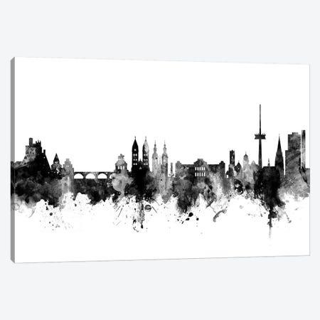 Koblenz, Germany Skyline In Black & White Canvas Print #MTO948} by Michael Tompsett Canvas Artwork