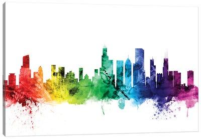 Rainbow Skyline Series: Chicago, Illinois, USA Canvas Print #MTO94