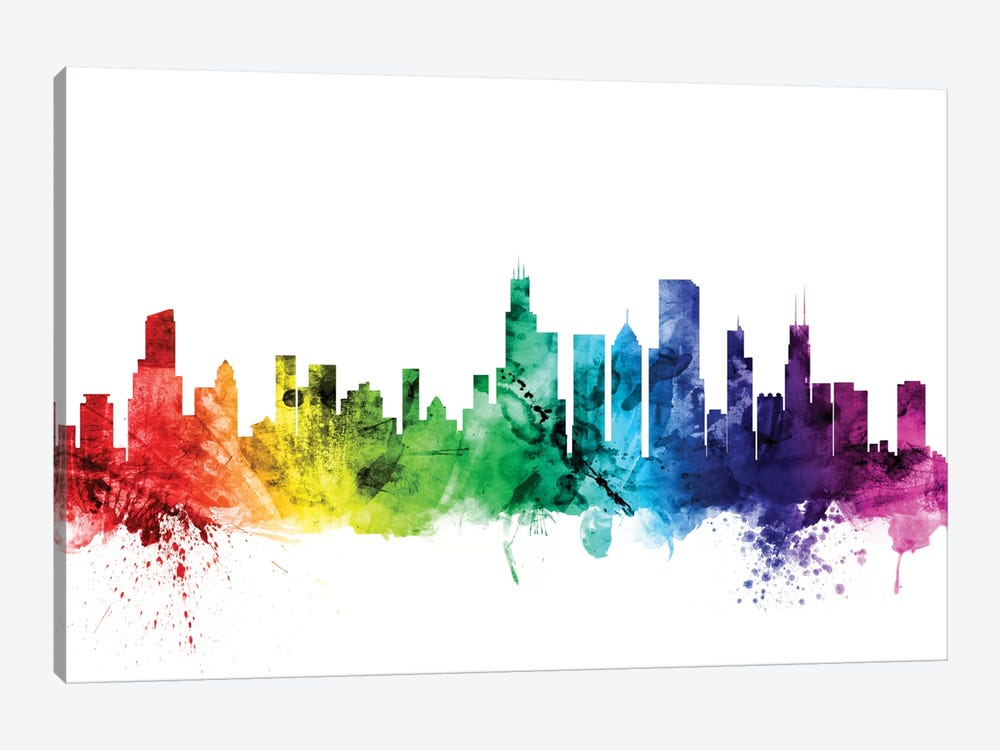 Chicago, Illinois, USA by Michael Tompsett 1-piece Canvas Art