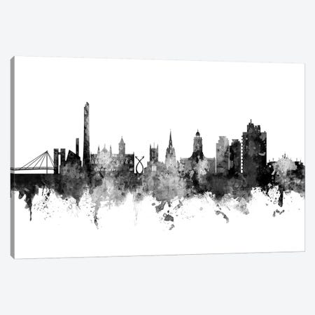 Northampton, England Skyline In Black & White Canvas Print #MTO954} by Michael Tompsett Canvas Wall Art
