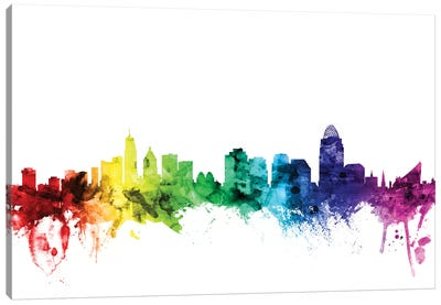 Rainbow Skyline Series: Cincinnati, Ohio, USA Canvas Print #MTO95