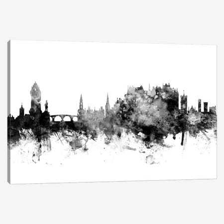 Stirling, Scotland Skyline In Black & White Canvas Print #MTO960} by Michael Tompsett Canvas Wall Art