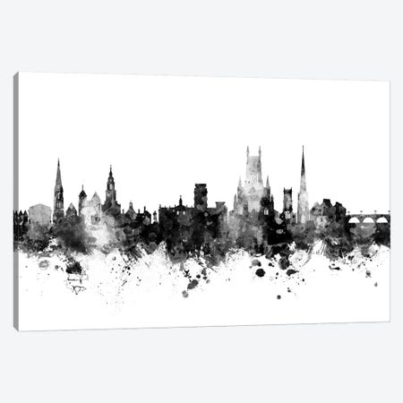 Worcester, England Skyline In Black & White Canvas Print #MTO965} by Michael Tompsett Canvas Print