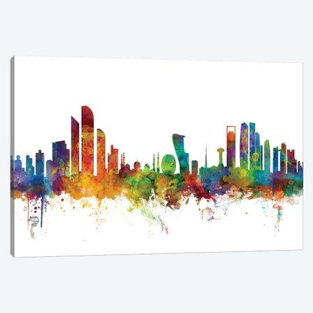 Abu Dhabi, UAE Skyline Canvas Print #MTO967} by Michael Tompsett Canvas Print
