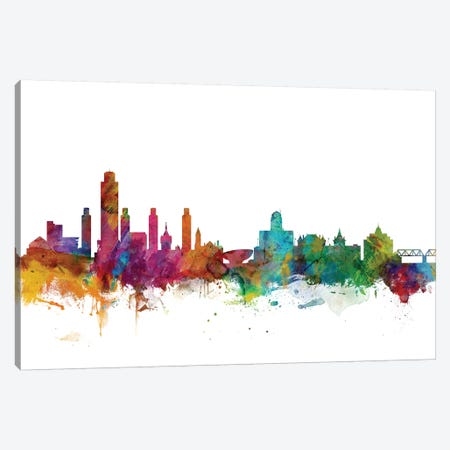 Albany, New York Skyline Canvas Print #MTO969} by Michael Tompsett Canvas Artwork