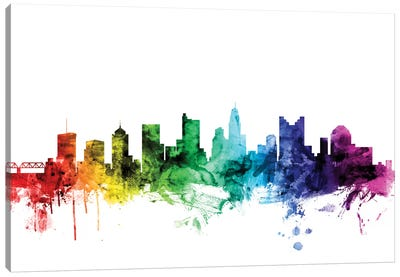 Rainbow Skyline Series: Columbus, Ohio, USA Canvas Print #MTO96