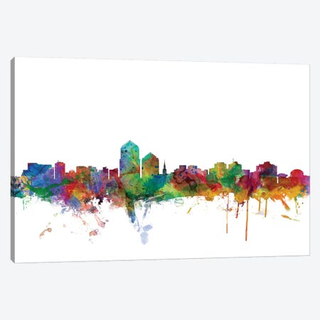 Albuquerque, New Mexico Skyline Canvas Print #MTO970} by Michael Tompsett Canvas Print