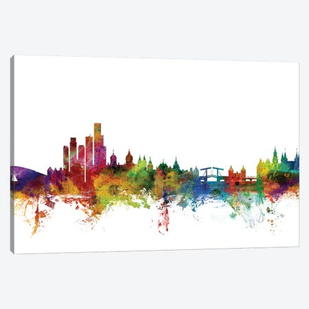 Amsterdam, The Netherlands Skyline Canvas Print #MTO971} by Michael Tompsett Art Print
