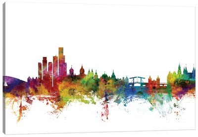 Amsterdam, The Netherlands Skyline Canvas Art Print
