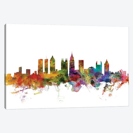 Atlanta, Georgia Skyline Canvas Print #MTO974} by Michael Tompsett Canvas Art