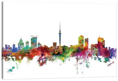 Auckland, New Zealand Skyline Canvas Art Print