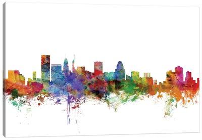Baltimore, Maryland Skyline Canvas Art Print